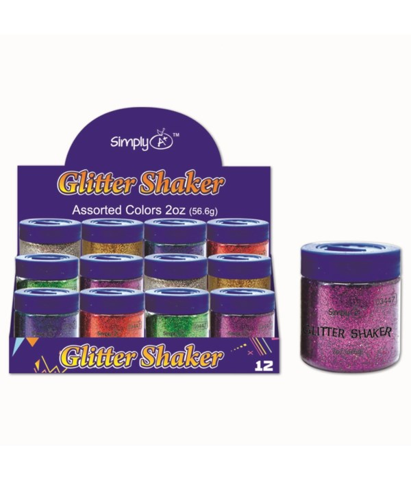 6-clrs glitter shaker 12/144s