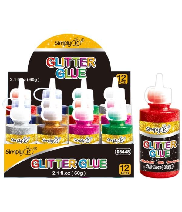 2.1oz/40g glitter glue 12/288s