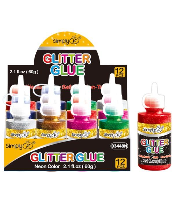 2.1oz/60g glitter glue 12/288s