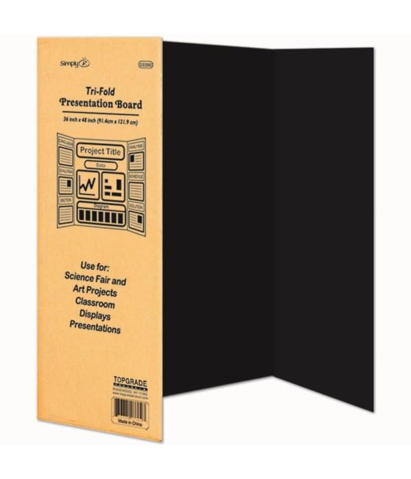 black tri-fold board 24's