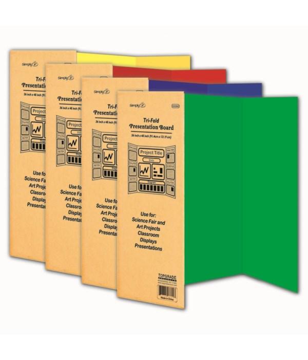 color tri-fold board 24s