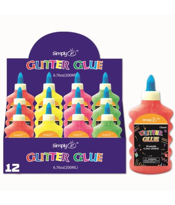 neon color glitter glue 12/48s