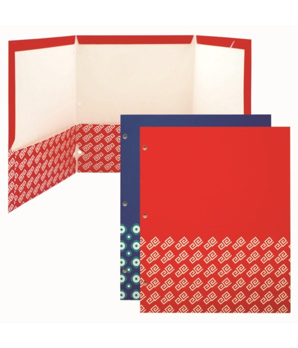 3-pocket paper folder astd 48s