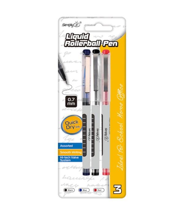 3ct liquid roller ball pen