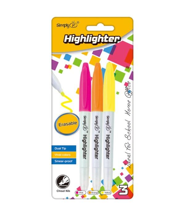 dual tip erasable highlighter