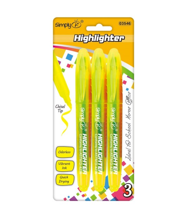 3ct highlighter yellow 24/144
