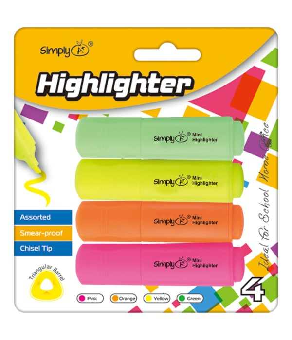4ct mini highlighters 24/144s