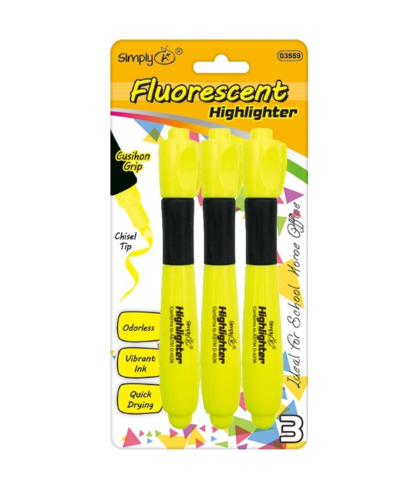 3ct fluorescent highliters