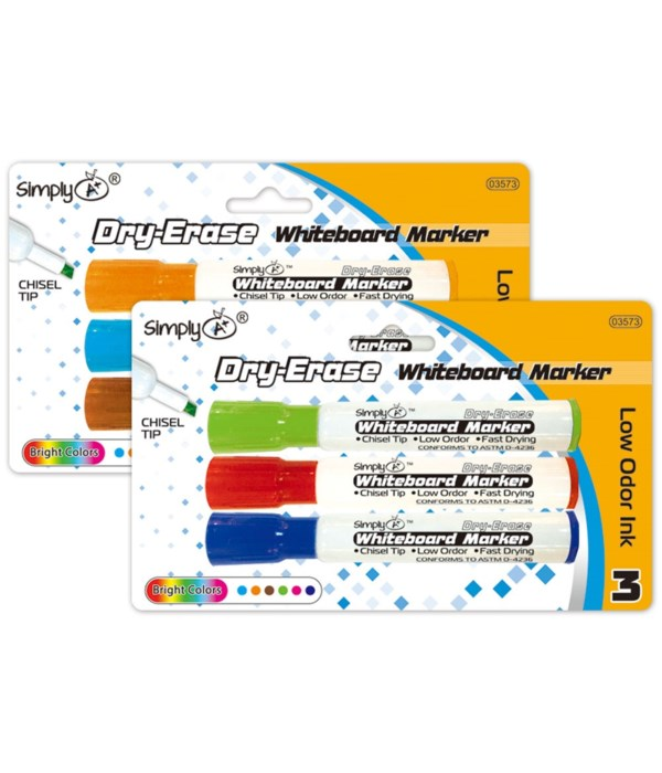 3pc dry-erase markers 24/144s