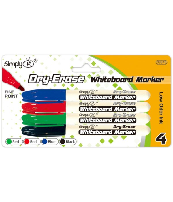 4pc dry erase markers 24/144s