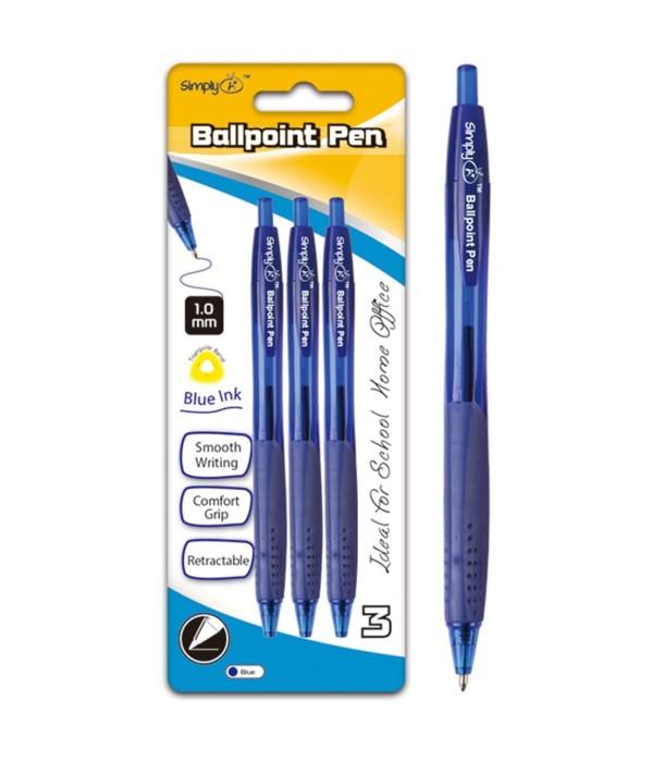 3ct retractable ballpoint pen