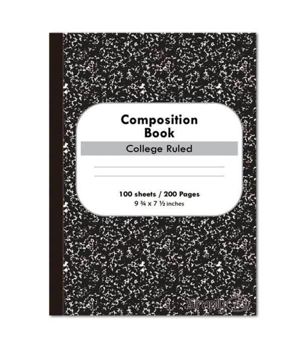 100ct marble composition book