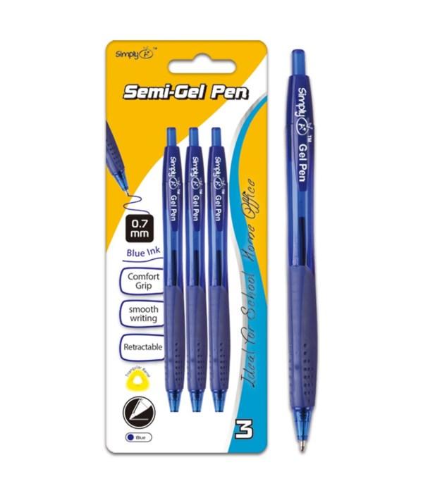 retractable oil gel ink pen