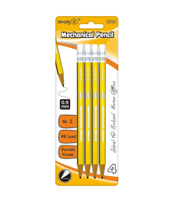 4ct/0.9mm mechanical pencil