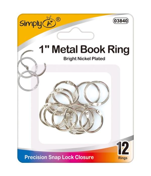 """1"""" book rings 24/144s"""