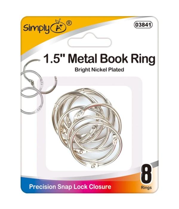 """1.5"""" book rings 24/144s"""