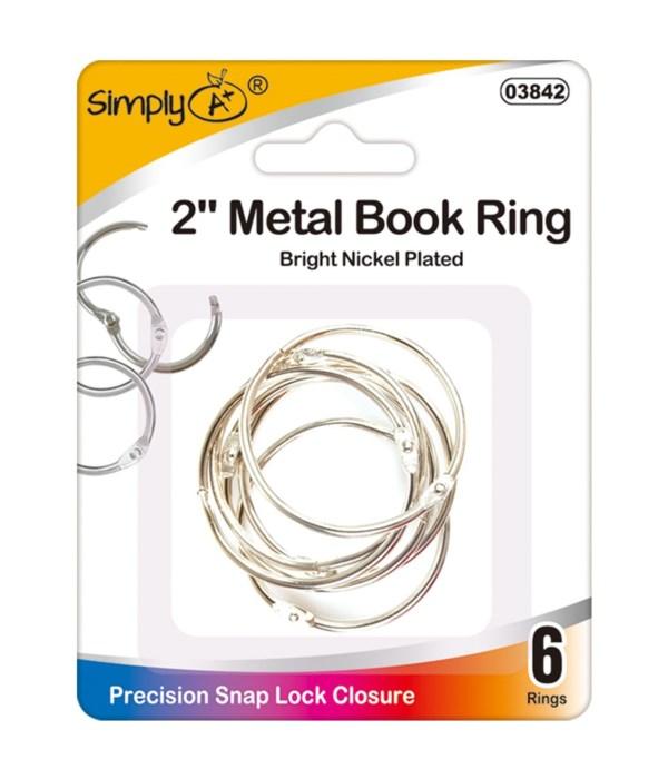 """2"""" book rings 24/144s"""