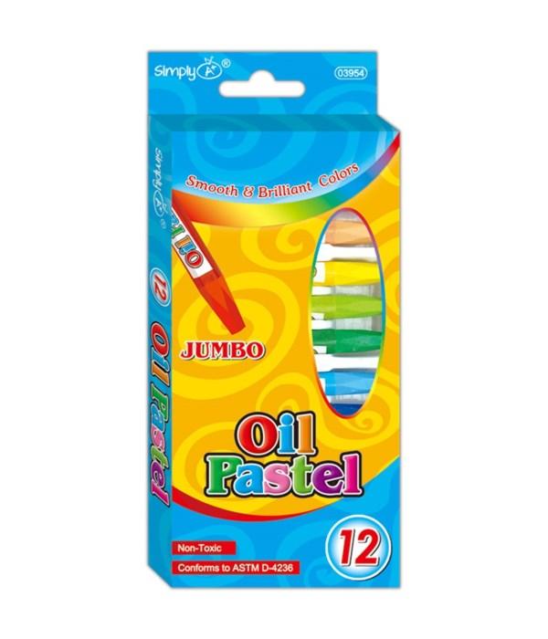 12-colors oil pastels 24/216s