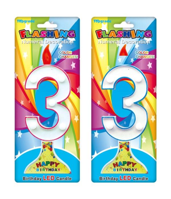 "7.5"" LED candle #3 12/144s"