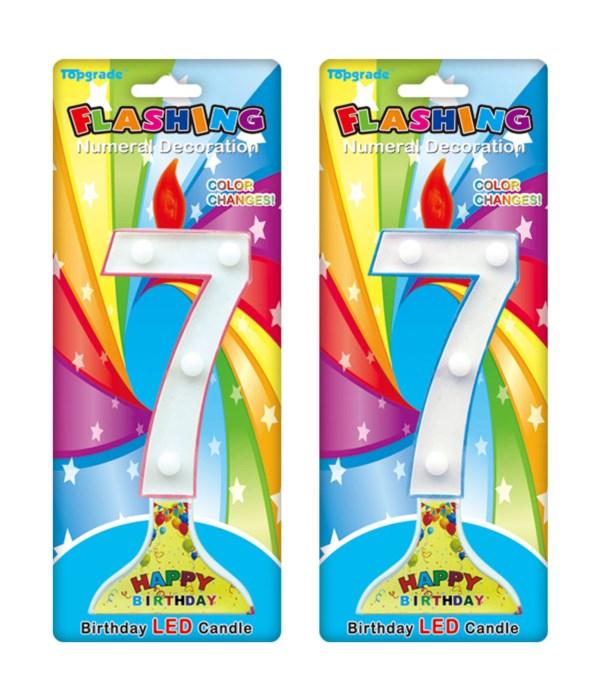 "7.5"" LED candle #7 12/144s"