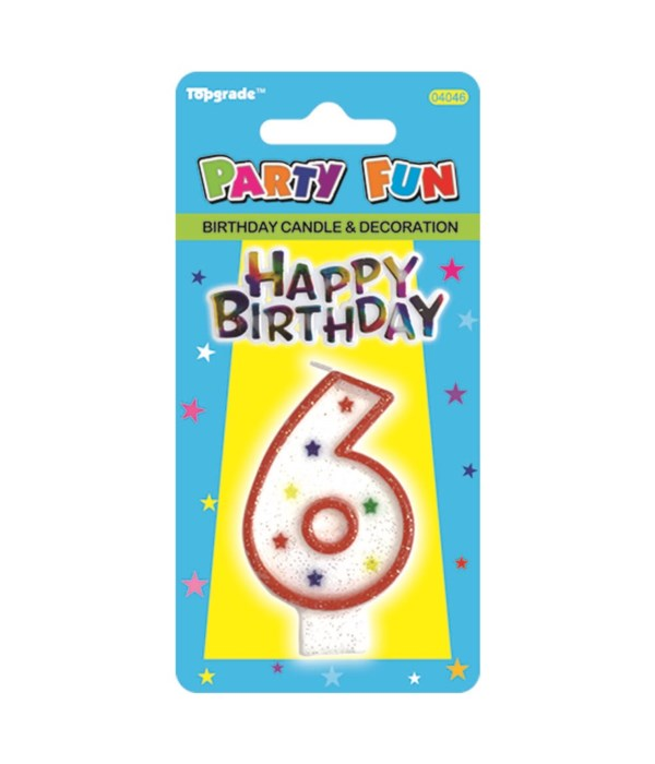 b'day candle #6 24/288s