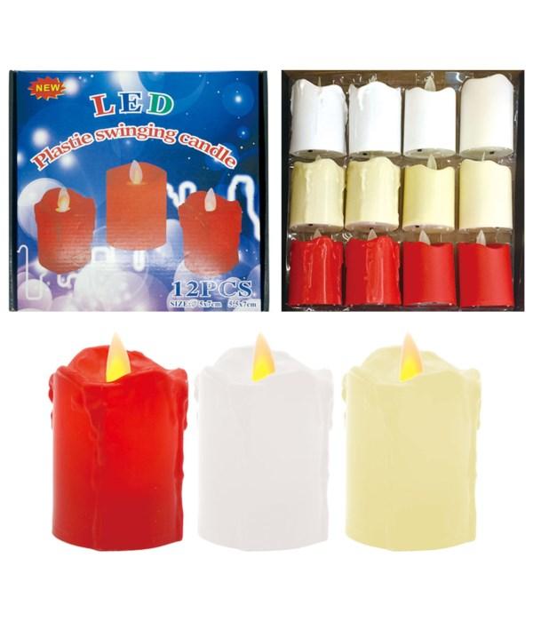 LED candle 5x7cm 12/480s