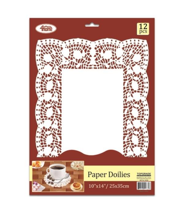 """12ct paper doilie 10x14""""24/240"""