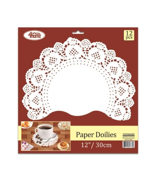 """12ct paper doilie 12"""" 24/240"""