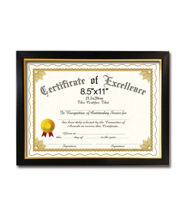 "certificate frame 8.5x11""/24s"