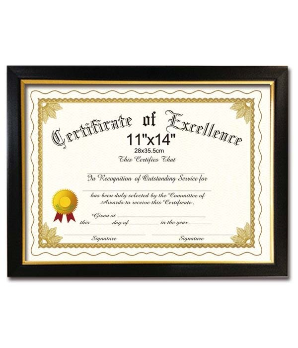 "certificate frame 11x14""/24s"