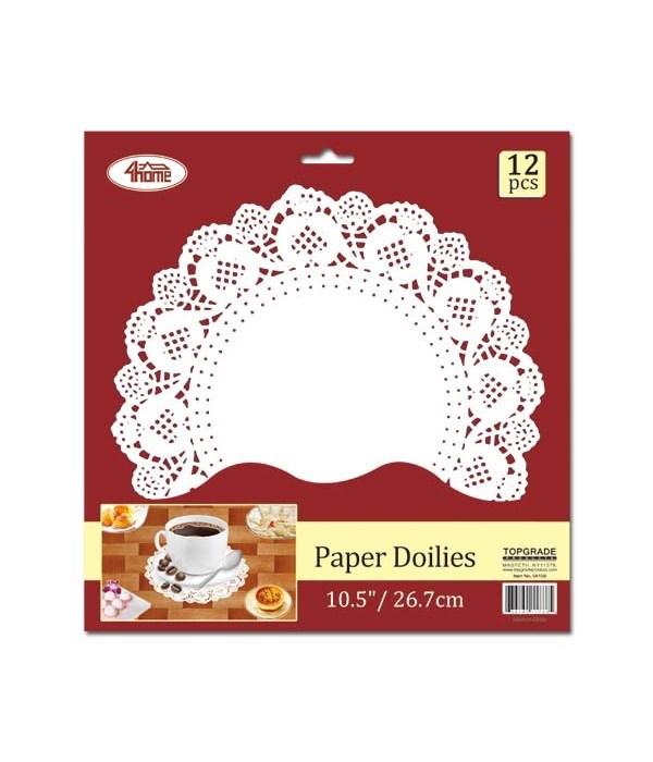 """12ct paper doilie 10.5"""" 24/240"""