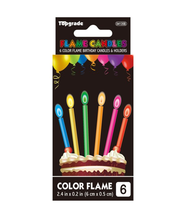 6ct colorflame candle 36/432s