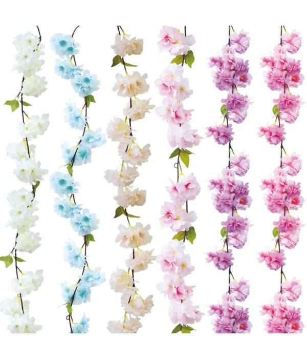 6ft flower vine astd 48/288s