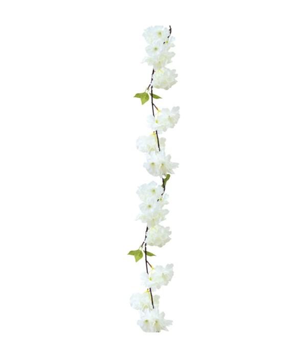 6ft flower vine white 12/288s