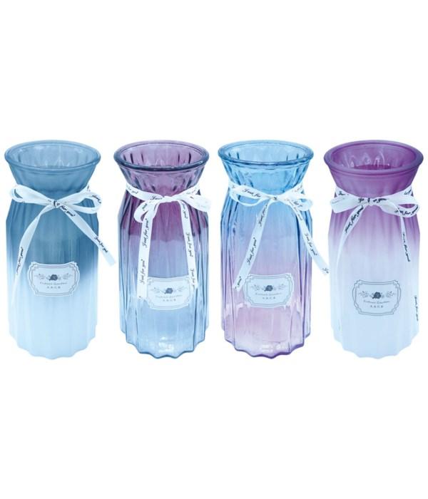 """glass vase 10hx3.5""""/12s"""