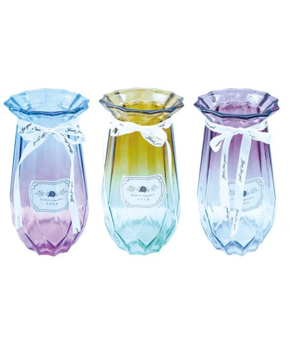 """glass vase 8hx4.75""""/12s"""