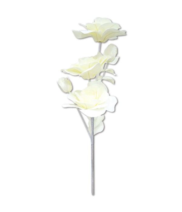 """47""""foam flower ivory 24/96s"""