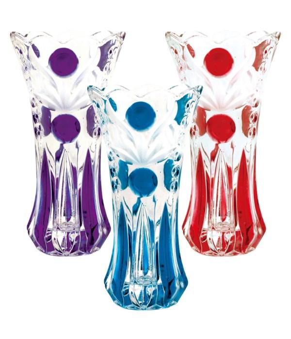 "12"" glass vase 6x12""h/8s"