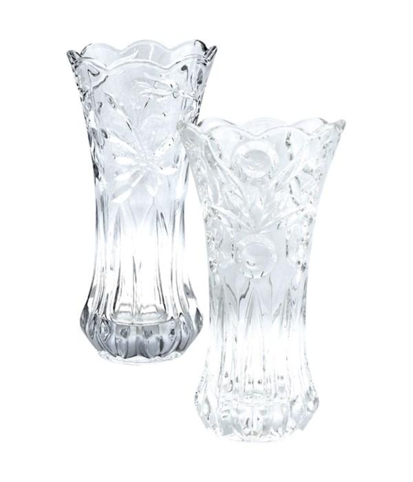 "glass vase 5.9x12""h/8s"