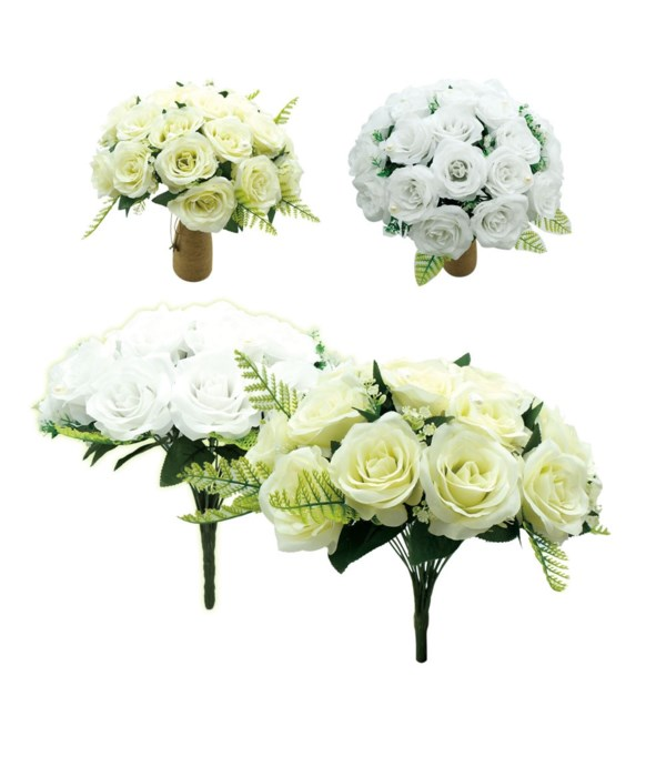 24-heads bouquet beige 12s