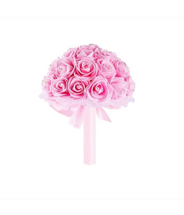 """8""""foam bouquets pink 6/48s"""