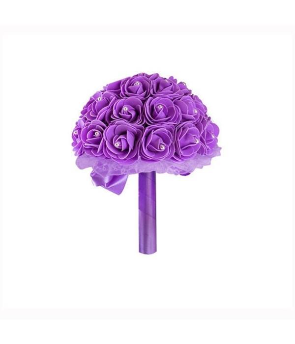 """8""""foam bouquets purple 6/48s"""