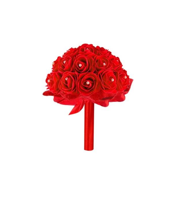 """8""""foam bouquets red 6/48s"""