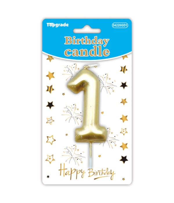 b'day candle gold #1 12/288s