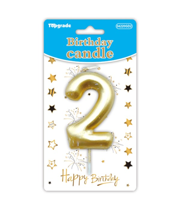 b'day candle gold #2 12/288s
