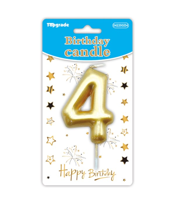 b'day candle gold #4 12/288s