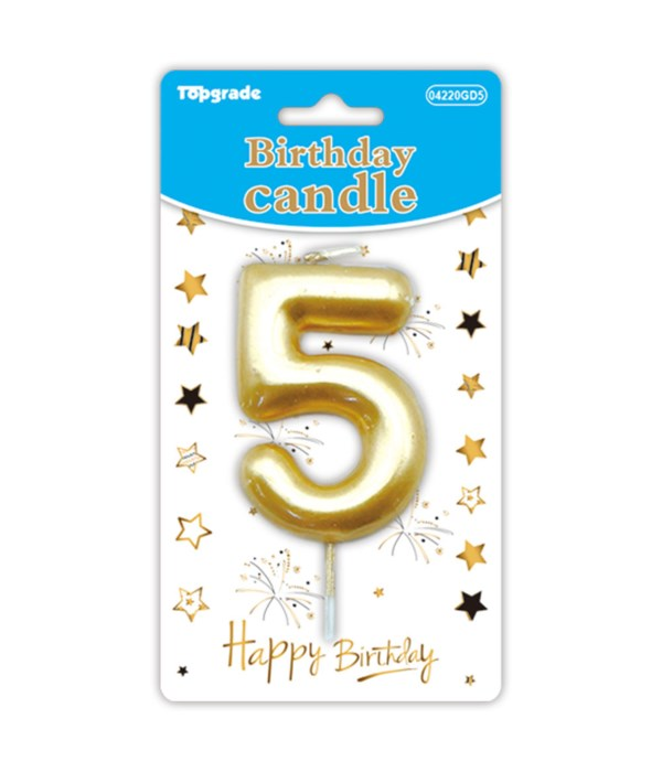 b'day candle gold #5 12/288s