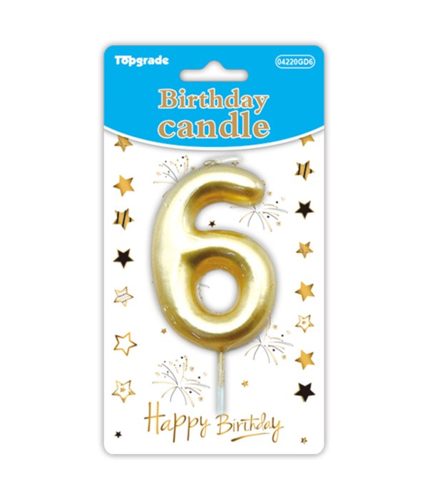 b'day candle gold #6 12/288s