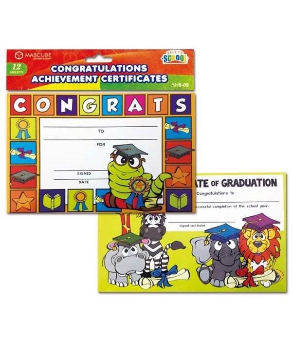 achievement certif. 24/144's