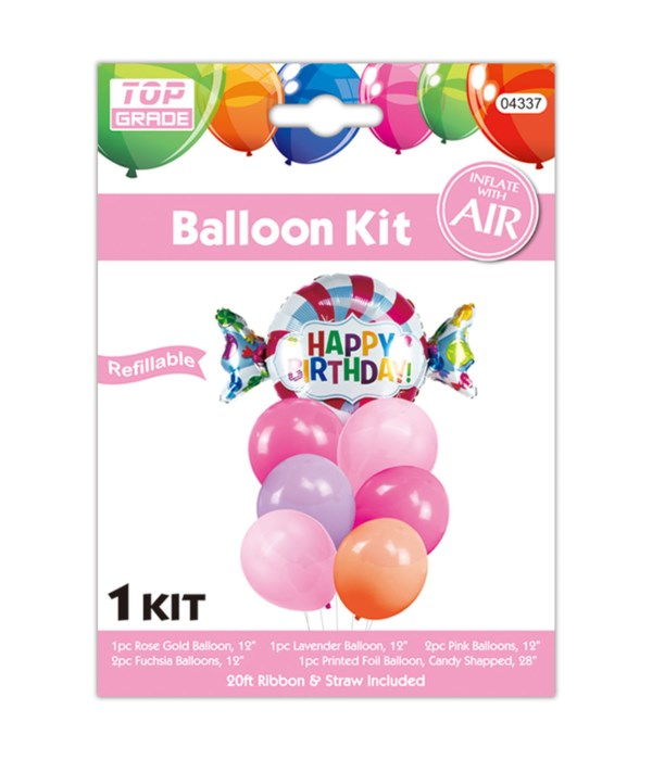 7pc b'day balloon set 12/300s